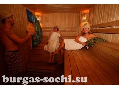 Пансионат «Бургас», банный комплекс, сауна